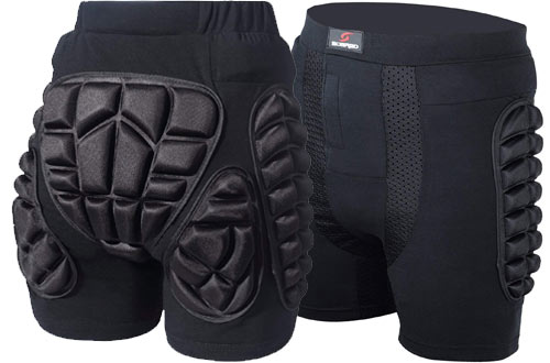 Soared 3D Protection Hip Butt EVA Padded Short Pants