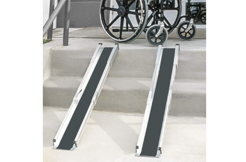 DMI Portable Retractable Lightweight Wheelchair Ramps with Cover