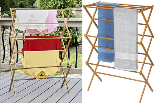 Household Essentials Indoor Wooden Clothes Drying Racks - Dry Laundry And Hang Clothes