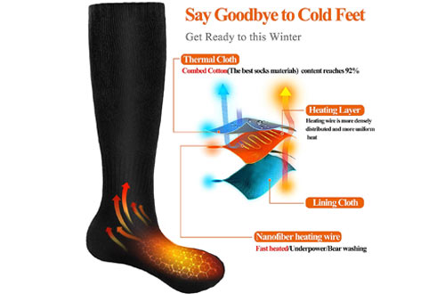 Begleri Battery Heated Socks for Winter Sports