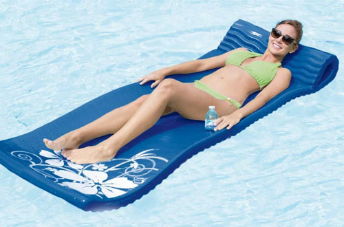 SwimWays Large Foam Pool Floats - Vinyl Covered Foam Mat