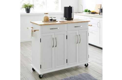 Kitchen Island Carts With Storage Reviews