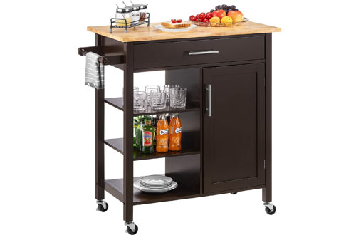 kealive Rolling Kitchen Island Carts on Wheels - Kitchen Cart with Storage Cabinet Drawer