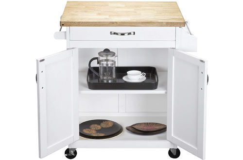 Dorel Living Movable Kitchen Island on Wheels