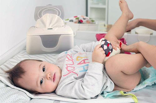 Go Pure Baby Wipes Warmer and Dispenser with LED Ample Lights