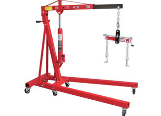 Strongway 2 Ton Engine Hoists with Load Leveler
